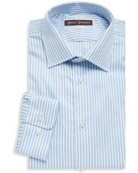 Hickey Freeman - Bengal Stripe Cotton Dress Shirt - Lyst