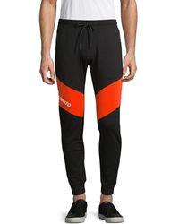 Antony Morato Men's Contrast Fleece Jogger Trousers - Black - Size Xxl - Multicolour