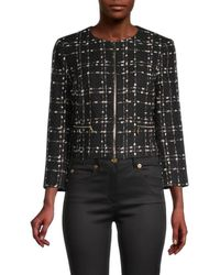 Ted Baker Women's Metallic Bouclé Jacket - Black - Size 3 (8)