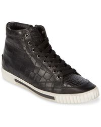 Alessandro Dell'acqua - Suede High-top Trainers - Lyst