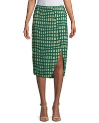 Plenty by Tracy Reese - Printed Surplice Skirt - Lyst