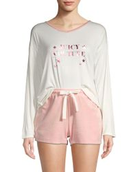 Juicy Couture - Two-piece Tee & Shorts Lounge Set - Lyst