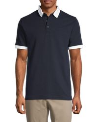 French Connection Short-sleeve Cotton Polo - Blue
