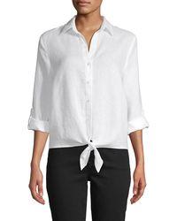 Saks Fifth Avenue - Tie-waist Linen Shirt - Lyst