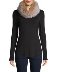 Saks Fifth Avenue Fox Fur Convertible Headband-scarf - Blue