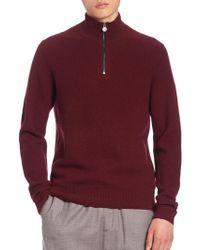 Kent & Curwen - Half-zip Mockneck Sweater - Lyst