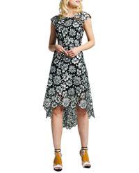 Kay Unger - Floral Pattern Asymmetric Dress - Lyst