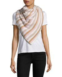 White + Warren - Stripe Cashmere Travel Wrap - Lyst