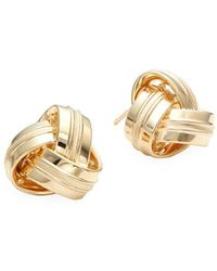 Saks Fifth Avenue - 14k Gold Knotted Stud Earrings - Lyst