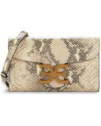 Sam Edelman Women's Randi Snakeskin-print Leather Crossbody Bag - Wheat Multi - Natural