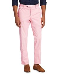 PT01 Slim-fit Flat Front Trousers - Pink