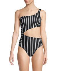 81013c6603154 Hood By Air One-Piece Hustler Swimsuit in Black - Lyst