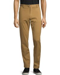 Saks Fifth Avenue Cotton-blend Chino Trousers - Brown