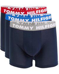 Tommy Hilfiger Men's 3-pack Boxer Briefs - Blue - Size S