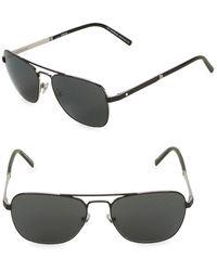 d53a75a3dc Lyst - Montblanc Tortoiseshell-Look Mb365S Wayfarer Sunglasses in ...