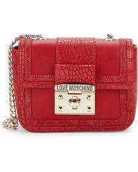 Love Moschino - Croco-embossed Crossbody Bag - Lyst