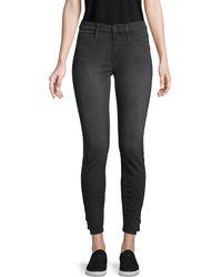FRAME Le Skinny Side-split Coated Jeans - Black