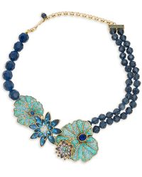 Heidi Daus Water Lily Crystal Rhinestone & Glass Bead Necklace - Multicolour