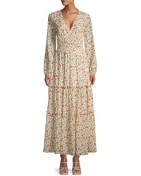 Lost + Wander Women's Floral-print Maxi Dress - Ivory Floral - Size S - Multicolor