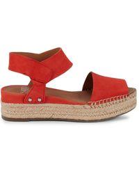 Sarto Women's Oak Suede Platform Sandals - Poppy - Size 11 - Red
