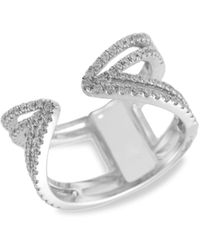 Meira T 14k White Gold & Diamond Cocktail Ring - Multicolour