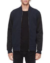 Calvin Klein Full-zip Bomber Jacket - Blue