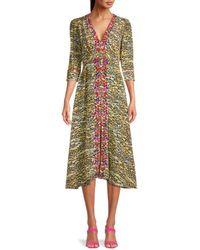 Saloni Women's Tiger-print Silk Dress - Tiger - Size 4 - Multicolour