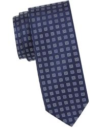 HUGO Printed Silk Tie - Blue