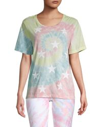 Chrldr Tie-dye Star Graphic T-shirt - Multicolour