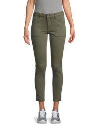 Vigoss Marley Cropped Skinny Jeans - Green