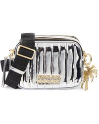 Versace Jeans Couture Women's Metallic Quilted Shoulder Bag - Silver