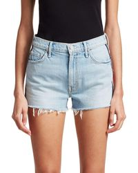 Mother Easy Does It Denim Shorts - Blue
