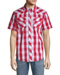 1df2cd2b30 Lyst - True Religion Printed Short-sleeve Denim Western Shirt in ...