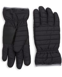 Saks Fifth Avenue Quilted Gloves - Grey