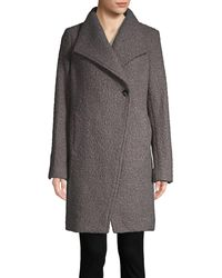 T Tahari Asymmetric Topper Coat - Grey