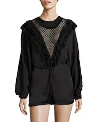Alice McCALL Diamond Dancer Love Story Romper - Black