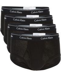 Calvin Klein 4-pack Logo Cotton Briefs - Black