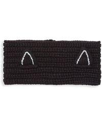 Karl Lagerfeld Knit Ear Warmer - Black