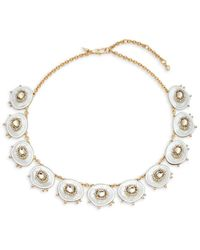Alexis Bittar 10k Goldplated, Lucite & Crystal Statement Necklace - Metallic