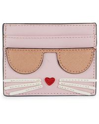 Karl Lagerfeld Patch Graphic Card Holder - Black