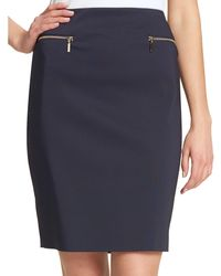 Tommy Hilfiger Zip Pencil Skirt - Blue