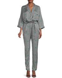 Maje Women's Printed Pyjama Jumpsuit - Size 34 (xs) - Grey