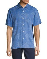 Tommy Bahama Digital Palms Silk Camp Shirt - Multicolour