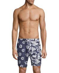 Trunks Surf & Swim Floral Swim Trunks - Blue