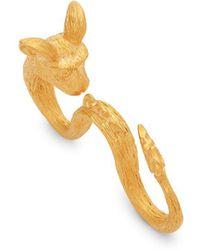 Valentino - Rat Three-finger Ring - Lyst