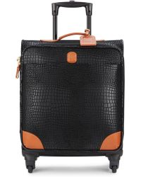 """Bric's - Mysafari 20"""" Embossed Leather Spinner Carry-on - Lyst"""