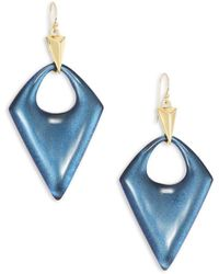 Alexis Bittar - Pointed Pyramid Lucite Drop Earrings - Lyst