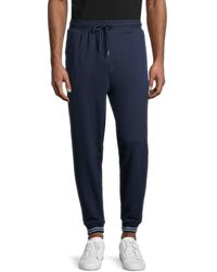 Ted Baker Men's Ribbed Jogger Trousers - Navy - Size L - Blue