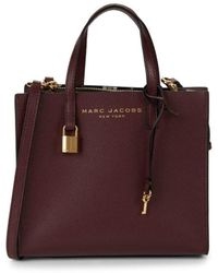 Marc Jacobs Mini Grind Coated Leather Satchel - Brown