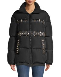 Versace Embellished Down-filled Jacket - Black